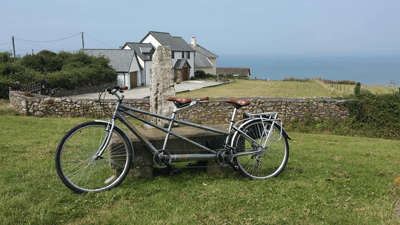 Image of Derri Dunn's tandem bicycle