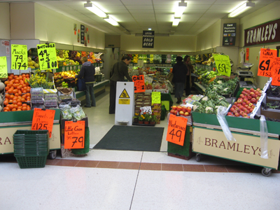 A traditional Greengrocers
