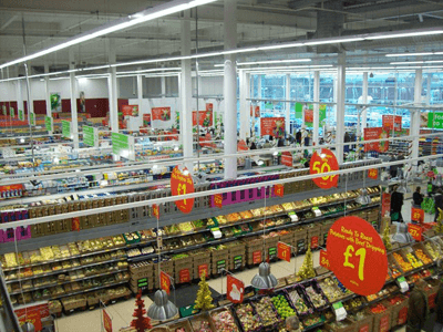 The interior of a supermarket in Andover