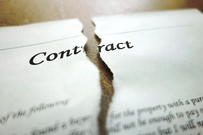 A ripped up contract