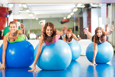 Image of a group of women working out in a class