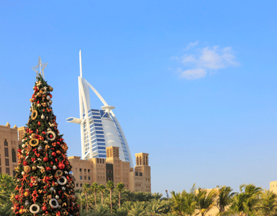 Image of Dubai at Christmas