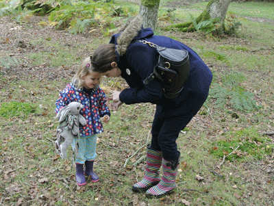 Image of mother and daughter in the New Forest
