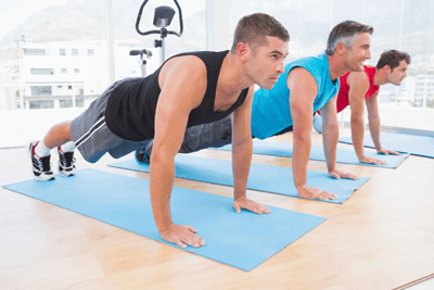 Image of men in the plank position