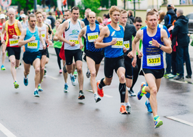 Image of people taking part in a marathon