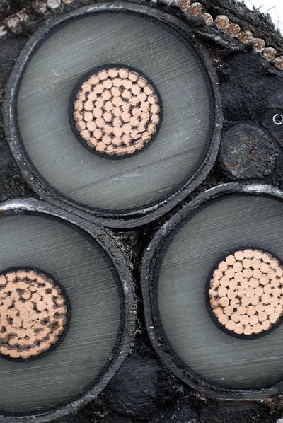 Image of cross section of copper wire