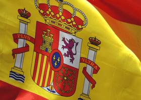 Image of a Spanish flag