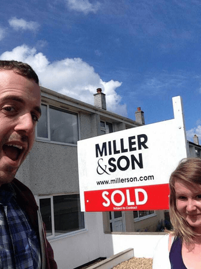 First time buyers Luke and Zoe