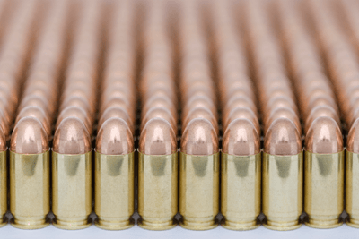 Image of rows upon rows of bullets