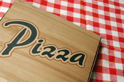 Image of a pizza box