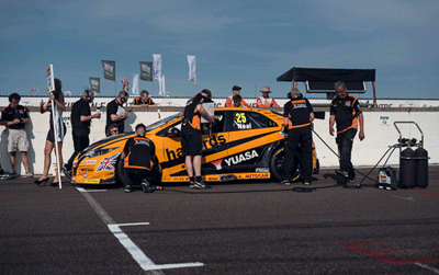 Image of car getting ready to race