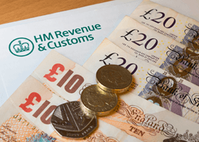 A HMRC letter and cash