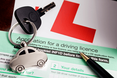 A driving licence application