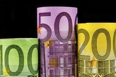 Image of euro banknotes