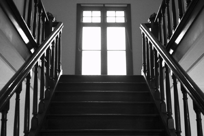 Image of a creepy staircase