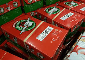 Image of Christmas Child boxes