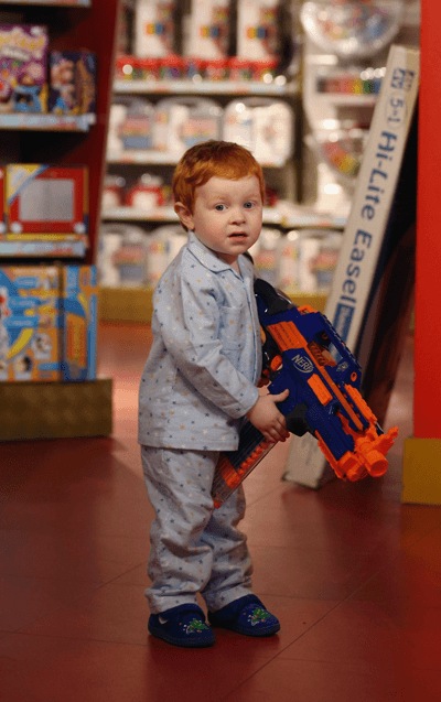 Image of boy with nerf gun