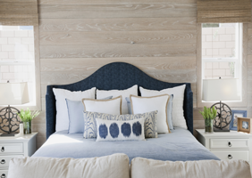 Image of upholstered headboard