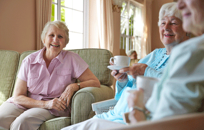 Image of people in a care home