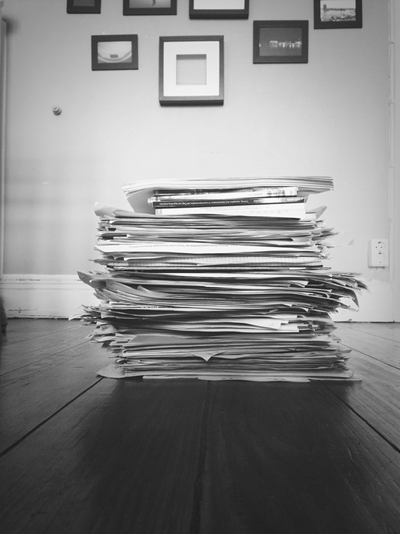 Image of a pile of documents