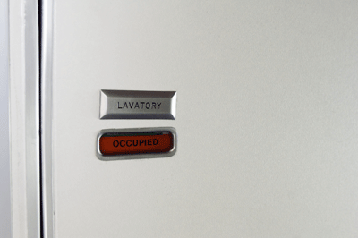 Image of an occupied lavatory
