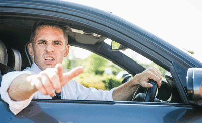 Image of a disgruntled driver