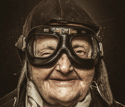 Image of an old biker