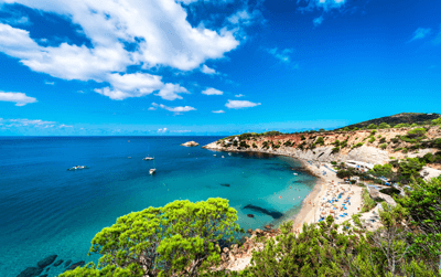 Woo, we're going to Ibiza! Book flights to the party island nine weeks ahead of departure to get good value flights.