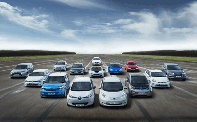 Image of electric cars en masse