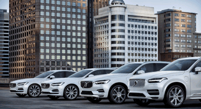 Image of electric volvo line-up
