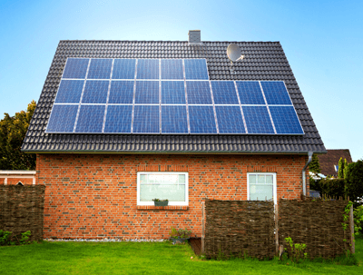 Image of solar panels on house
