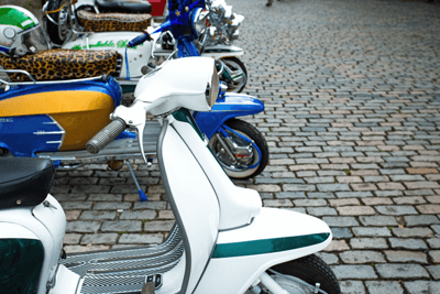 Image of white scooter