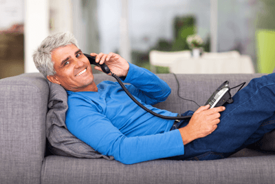 Image of middle aged man on the phone