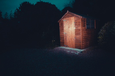 An image of a spooky shed