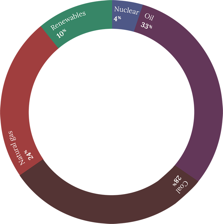 2016 energy consumption by source donut chart