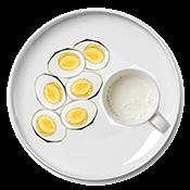 Matt Damon's breakfast